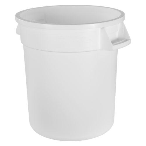 10 Gallon White Round Trash Can, Carlisle 34101002