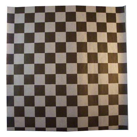 "12"" x 12"" Flat Dry Wax Sheets White & Black Checkered, Bagcraft 300308"