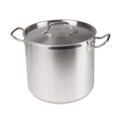 16 Qt. Stainless Steel Stock Pot w/Lid, Winco SST-16