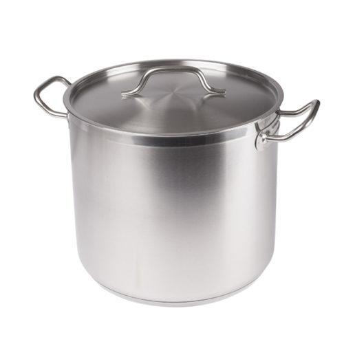 20 Qt. Stainless Steel Stock Pot w/Lid, Winco SST-20