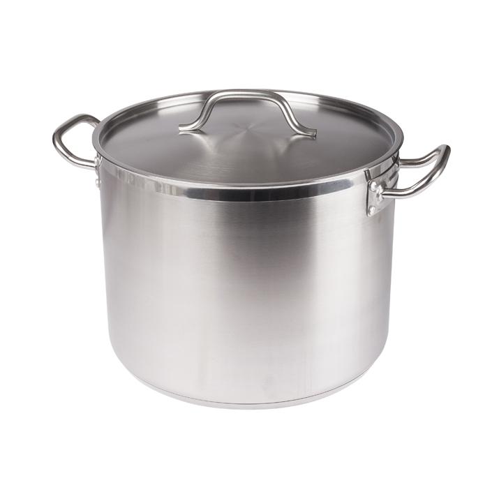 24 Qt. Stainless Steel Stock Pot w/Lid, Winco SST-24