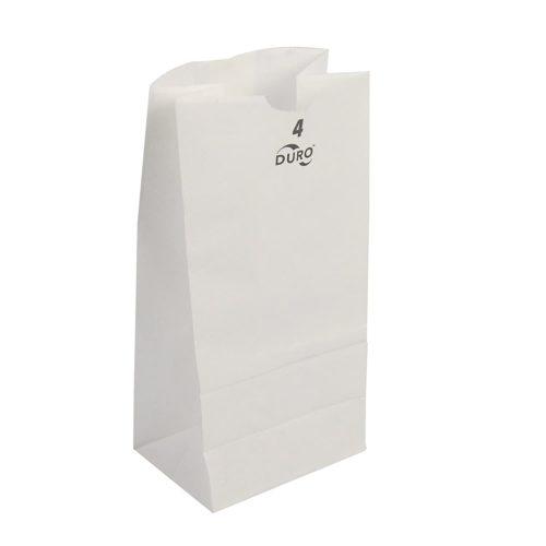4lb White Paper Bags Duro 51004