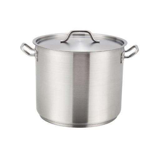 60 Qt.Stainless Steel Stock Pot w/Lid, Winco SST-60