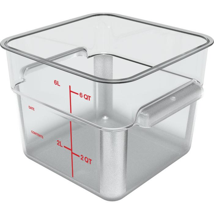 6 Qt. Clear Square Storage Container Carlisle 1195207