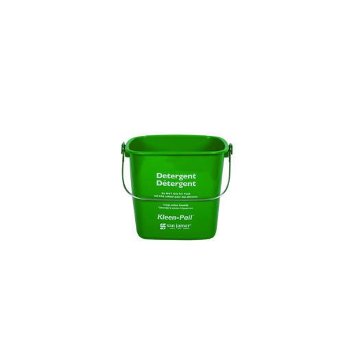 6 Qt. Green Sanitizing Kleen-Pail San Jamar KP196GN