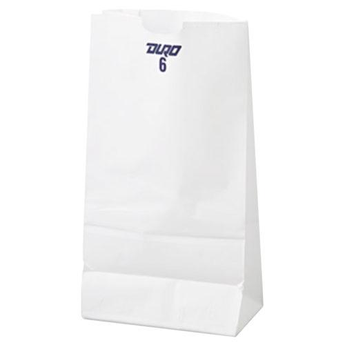 6lb White Paper Bags Duro 51046
