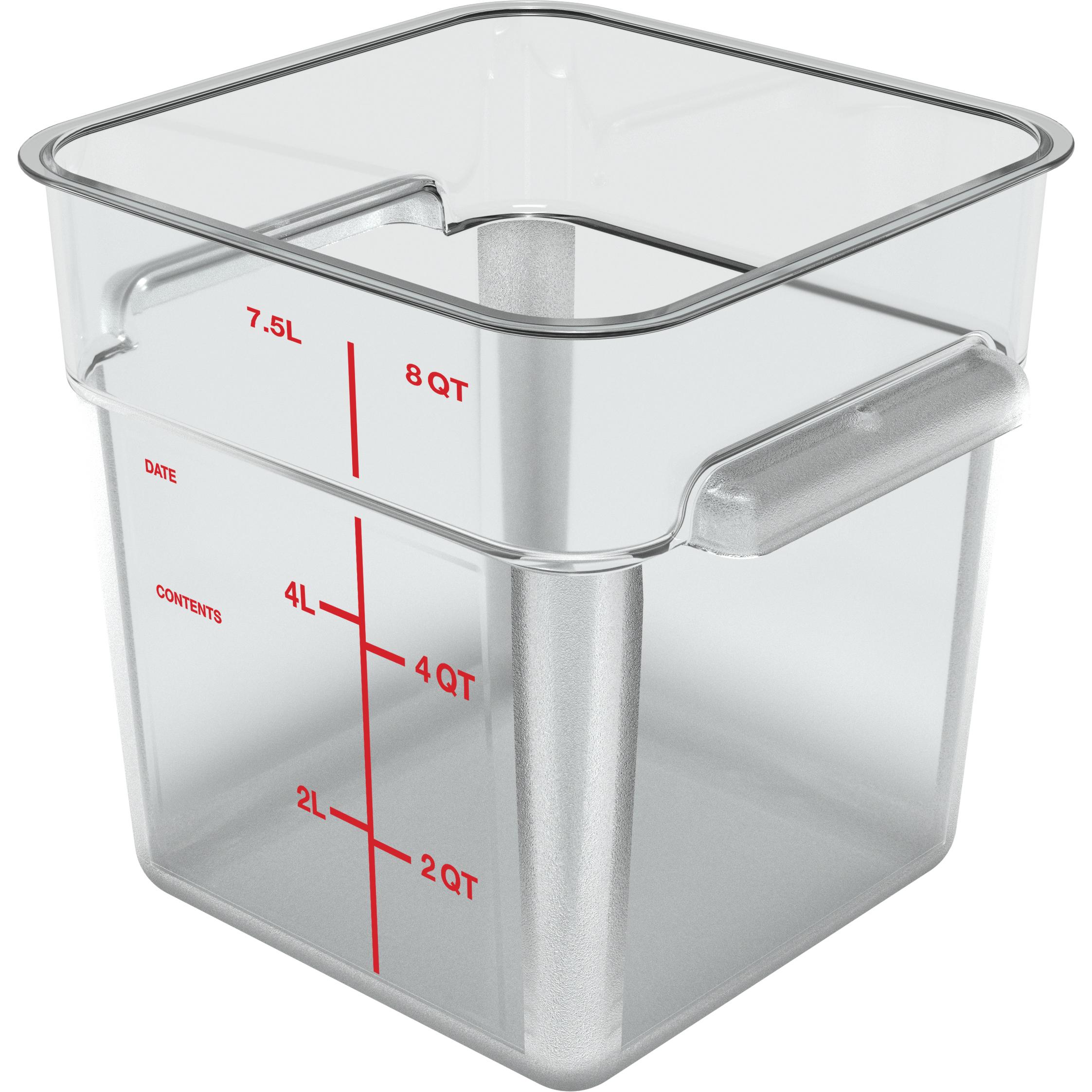8 Qt. Clear Square Storage Container Carlisle 1195307