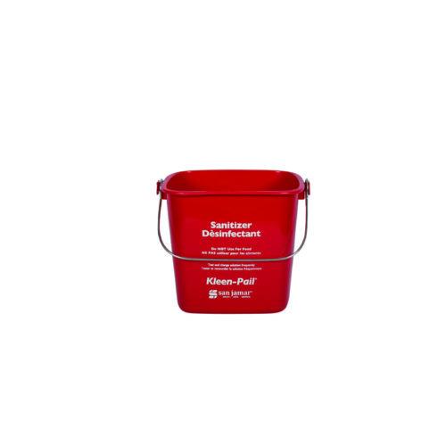 8 Qt. Red Sanitizing Kleen-Pail San Jamar KP256RD