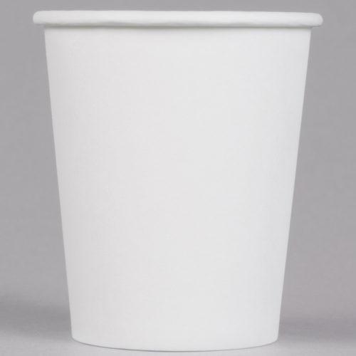 8 oz. Hot White Paper Cups, Empress EHC8-W - Case