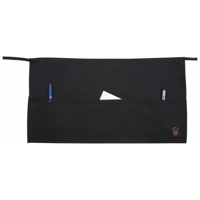 Black 3-Pocket Waist Apron, Winco WA-1221
