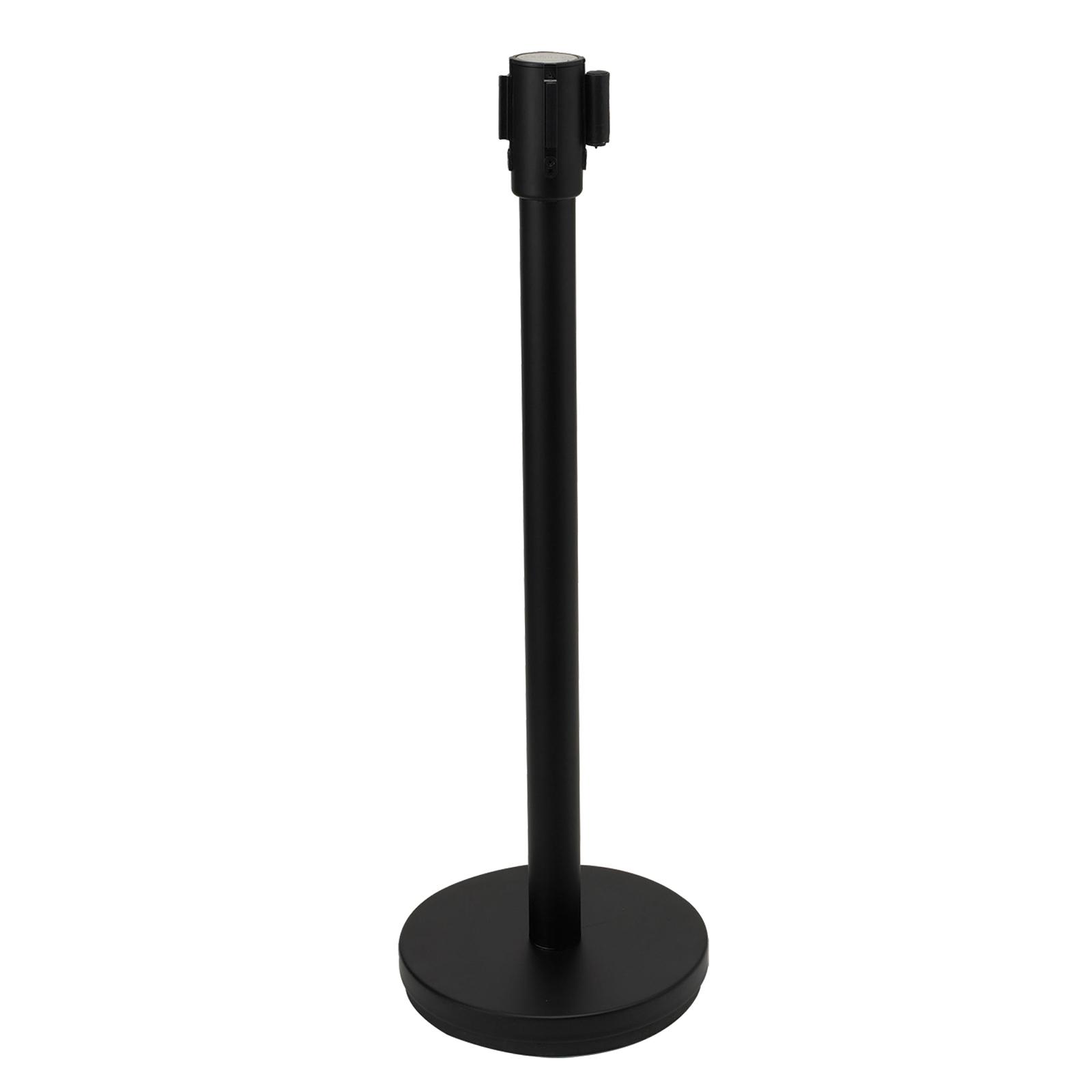 Black Retractable Belt Crowd Guidance System, Winco CGS-38K