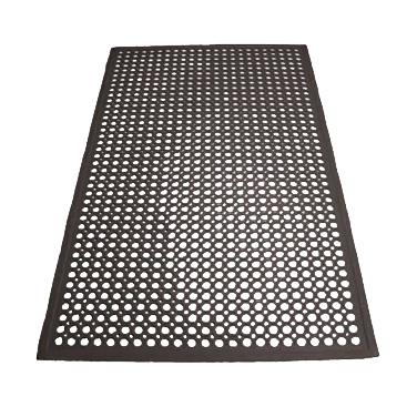 3' x 5' Black Rubber Floor Mat, Winco RBM-35K
