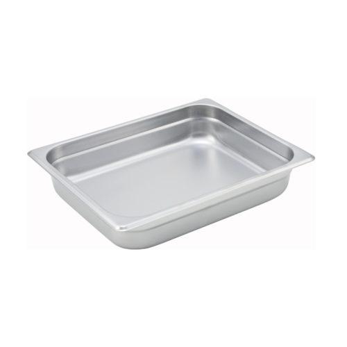 "Half Size Steam Table Pan, 2.5"" deep, Winco SPJM-202"
