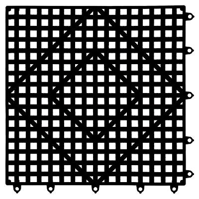 """12"""" x 12"""" Interlocking Bar Mat San Jamar VM5280BK"""