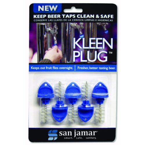 Kleen Plug Draft Beer Tap Plug 5-pack, San Jamar KLP200
