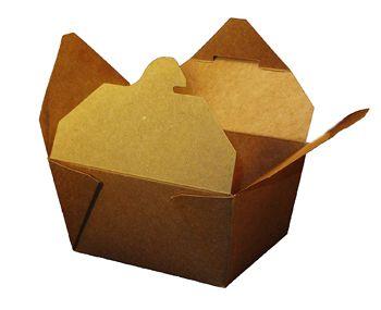 "Kraft Folded #1 Paper Take-Out Box 4"" x 3"" x 2.5"", SQP 100160 - Pack"
