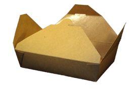 "Kraft Folded #2 Paper Take-Out Box 7"" x 5"" x 1.9"", SQP 100260 - Pack"