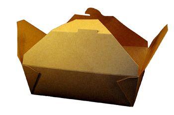 "Kraft Folded #3 Paper Take-Out Box 7.75"" x 5.5"" x 2.5"", SQP 100360 - Pack"