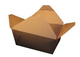 "Kraft Folded #4 Paper Take-Out Box 7"" x 5"" x 3.5"", SQP 100460 - Pack"