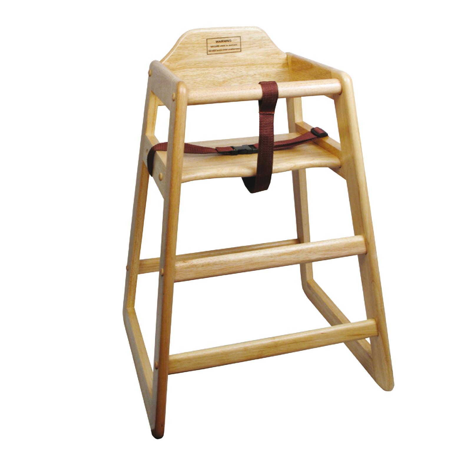 Natural Finish Wood High Chair, Winco CHH-101A
