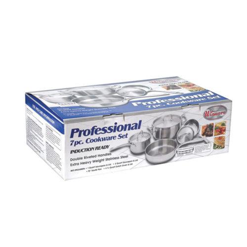 Premium Induction Cookware Set, Winco SPC-7H