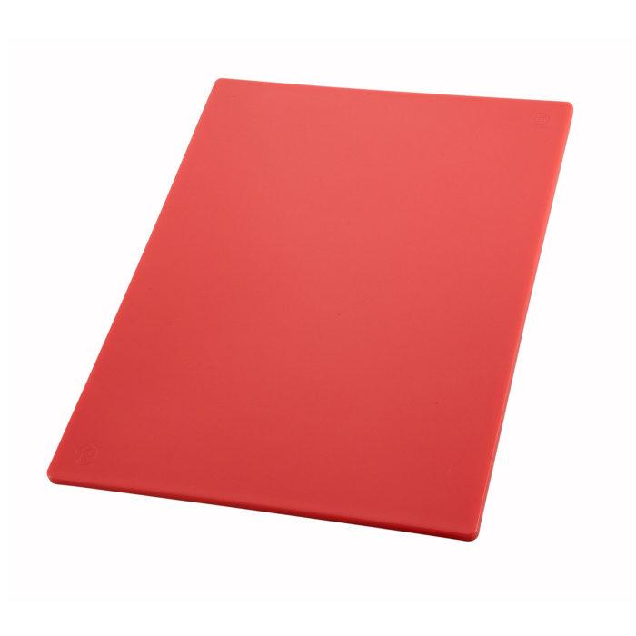 "12"" x 18"" Red Cutting Board, Winco CBRD-1218"