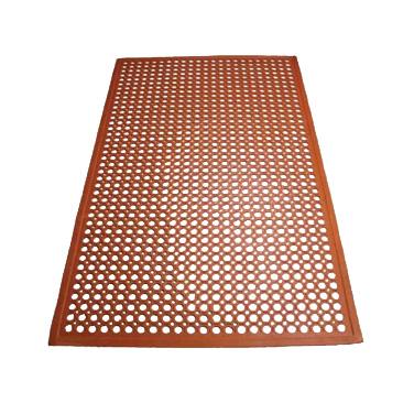3' x 5' Red Rubber Floor Mat, Winco RBM-35R