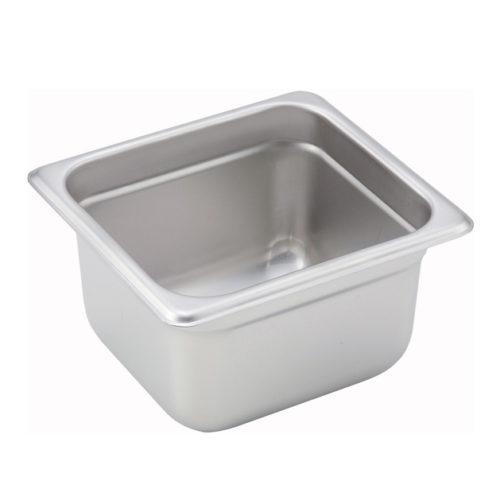 "1/6 Size Steam Table Pan, 4"" deep, Winco SPJM-604"