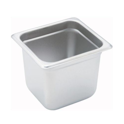 "1/6 Size Steam Table Pan, 6"" deep, Winco SPJM-606"