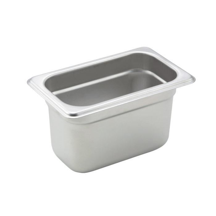 "1/9 Size Steam Table Pan, 4"" deep, Winco SPJM904"