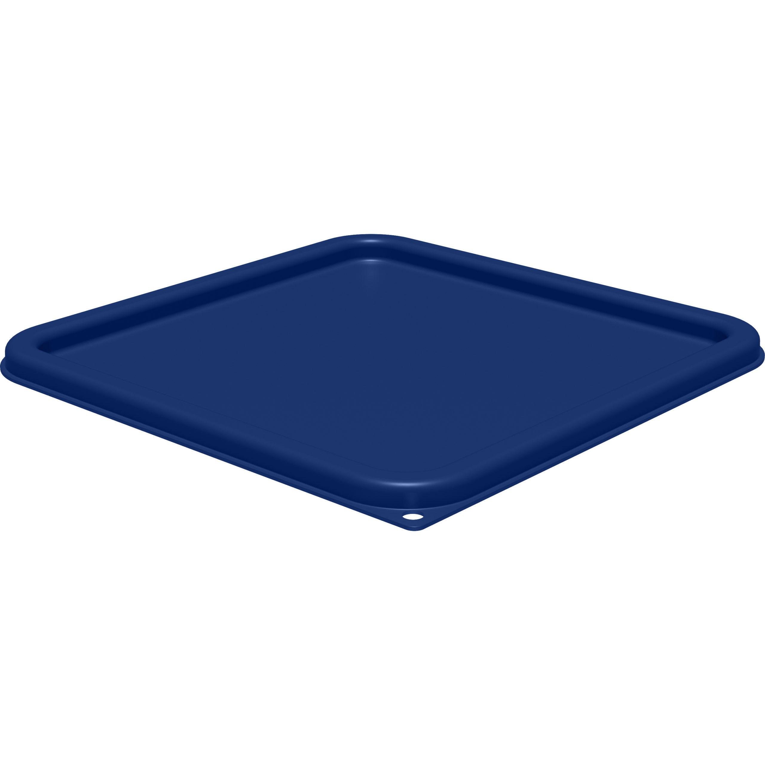 StorPlus? Blue Square Lid, Fits 12-18-22 Qt. Square Containers, Carlisle 1197260