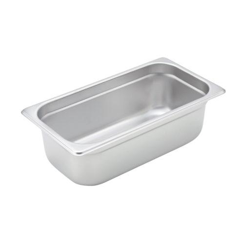 "1/3 Size Steam Table Pan, 4"" deep, Winco SPJM-304"