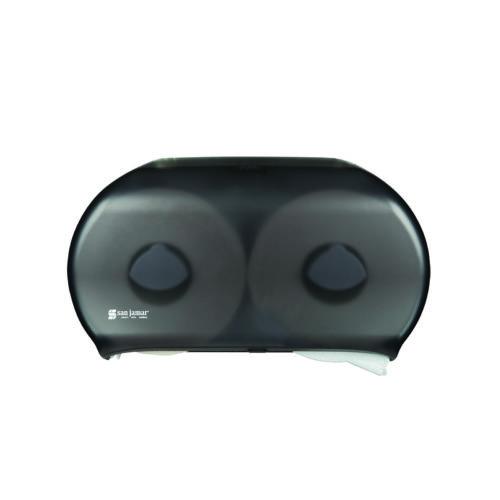 """9"""" Twin Double Roll Jumbo Toilet Tissue Dispenser, San Jamar R4000TBk"""