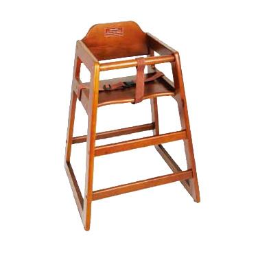 Walnut Finish Wood High Chair, Winco CHH-104