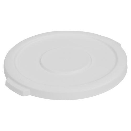 White 10 Gallon Trash Can Lid, Carlisle 34101102