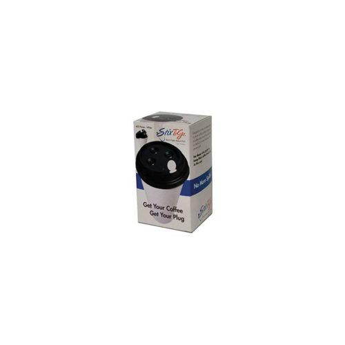 White Coffee Plug & Stirrer, Royal Paper CPLUG-W