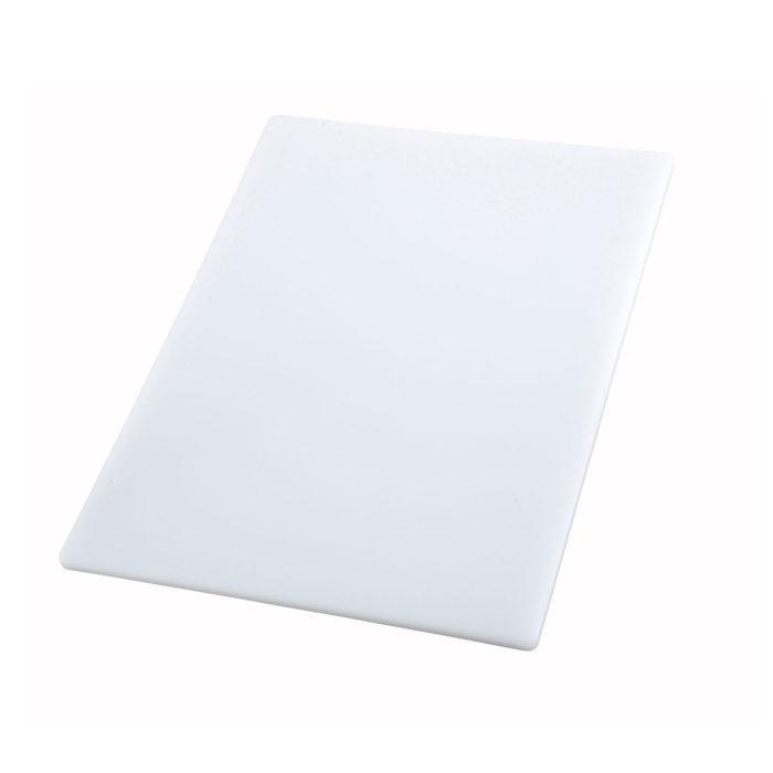 "18"" x 24"" White Cutting Board, Winco CBWT-1824"