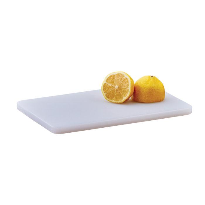 "6"" x 10"" White Cutting Board, Winco CBWT-610"