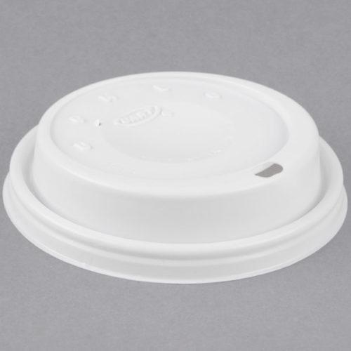 White Plastic Domed Sip Lid, Dart 16EL - Case