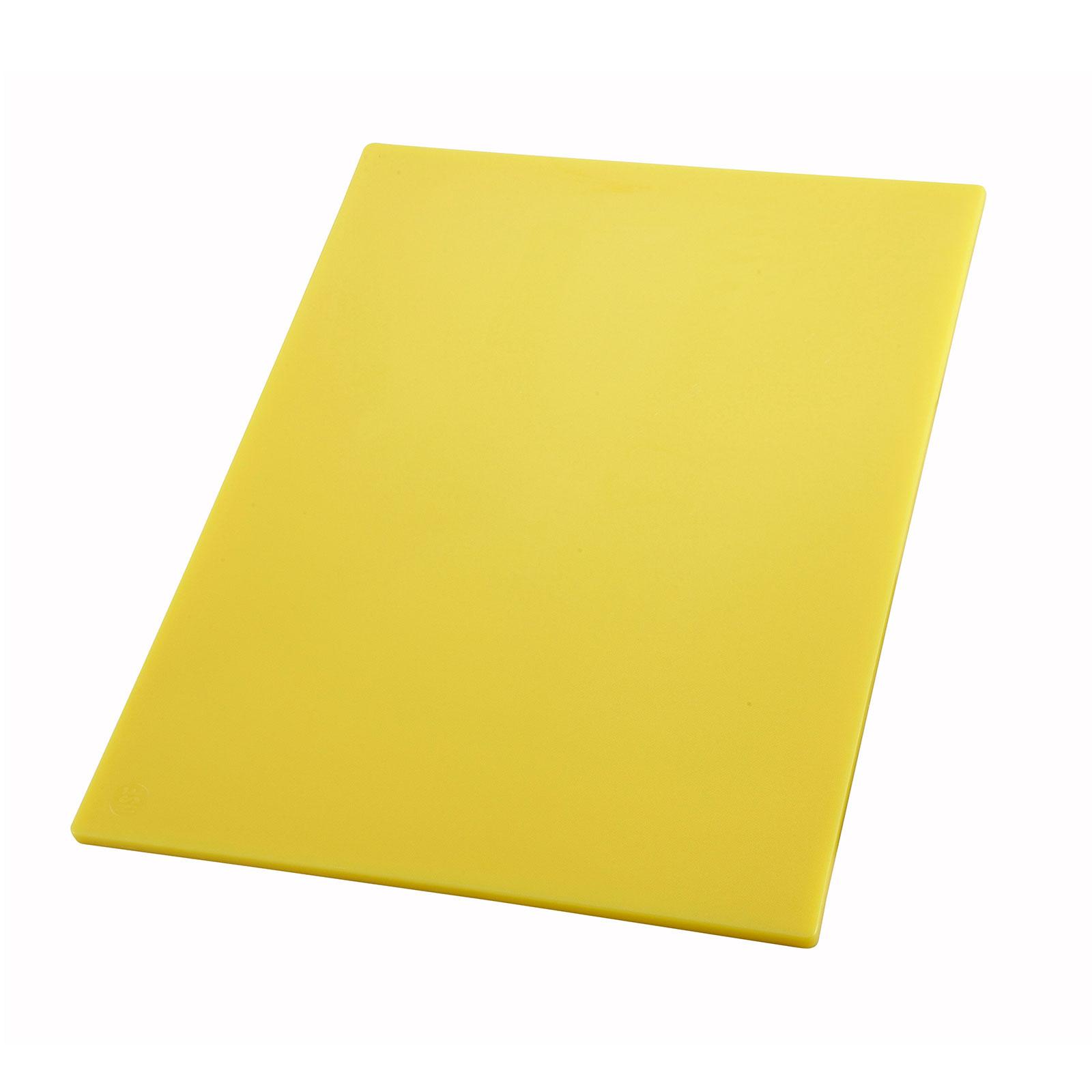"15"" x 20"" Yellow Cutting Board, Winco CBYL-1520"
